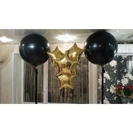 Большой шар черный. 70 см. с обработкой.