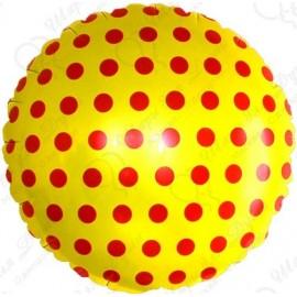 Фольгированный круг, желтый. 46 см.