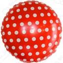 Фольгированный круг - точки, красный. 46 см.