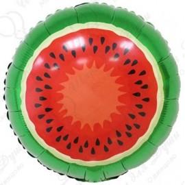 Фольгированный круг - Арбуз. 46 см.