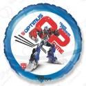 Фольгированный круг - Трансформеры Оптимус Прайм, синий, 46 см.