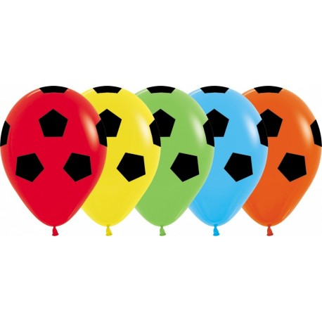 Воздушный шар ассорти футбол, пастель, 30 см.