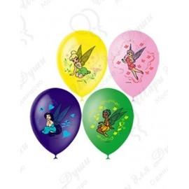 Воздушный шар 30 см Дисней Феи, ассорти, пастель.