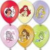 Воздушный шар принцессы, металлик, 38 см.