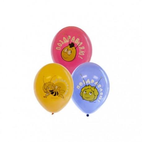 Воздушный шар пчелка Майя, 38 см.