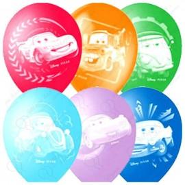 Воздушный шар 38 см тачки Маквин, ассорти, пастель.