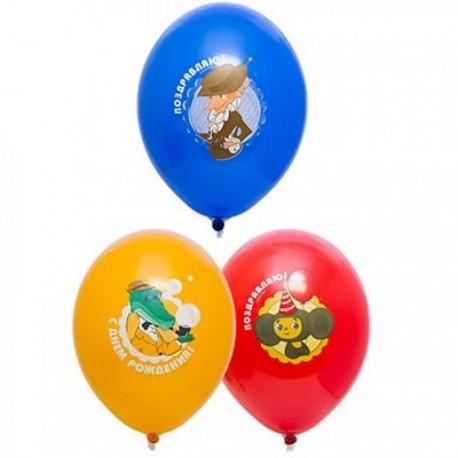 Воздушный шар чебурашка, 38 см.