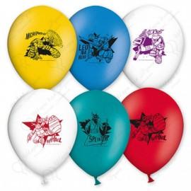 Воздушный шар 38 см черепашки, ассорти, пастель.