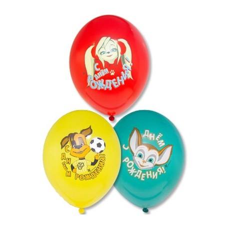 Воздушный шар День Рождения, Барбоскины, 38 см.