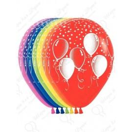 Воздушный шар 30 см праздничные шары, ассорти, пастель.