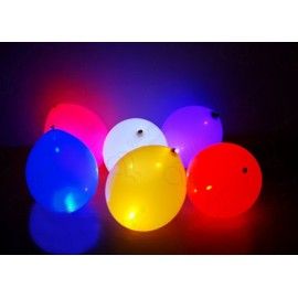 Воздушный шар 30 см светящийся, ассорти.
