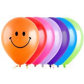 Воздушный шар 30 см смайл ассорти, пастель.