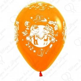 Воздушный шар 30 см школа, ассорти, пастель.