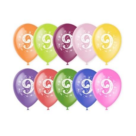 Воздушный шар - цифра девять, 30 см.