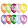 Воздушный шар - цифра десять, 30 см.
