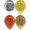 Воздушный шар - Джунгли, ассорти, пастель, 30 см.