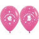 Воздушный шар 30 см Новорожденная Спасибо за дочку, Фуше.