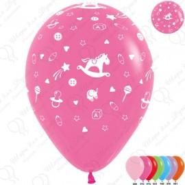 Воздушный шар 30 см Новорожденный, ассорти, пастель.