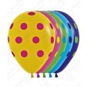 Воздушный шар 30 см  яркий горошек, ассорти, пастель.