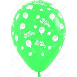 Воздушный шар 30 см  шарики смайлы, ассорти, пастель.