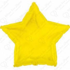 Фольгированный шар 46 см Звезда желтая.