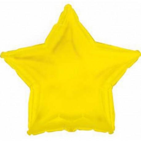 Фольгированный шар - Звезда желтая. 46 см.