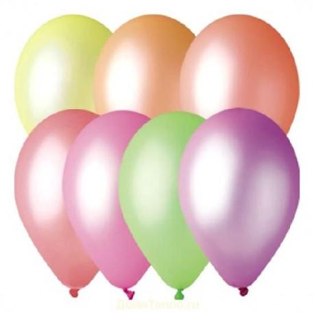 Воздушные неоновые шары для запуска в небо, 30 см.