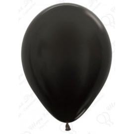 Воздушный шар, черный, металлик для запуска в небо.