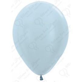 Воздушный шар, голубой, перламутр для запуска в небо.