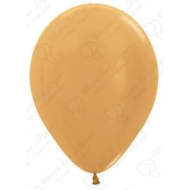 Воздушный шар золото яркое, металлик для запуска в небо.