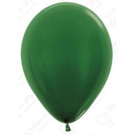 Воздушный шар темно-зеленый, металлик для запуска в небо.