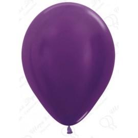 Воздушный шар фиолетовый, металлик для запуска в небо.