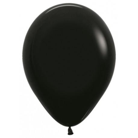 Воздушный шар черный, пастель для запуска в небо, 30 см.