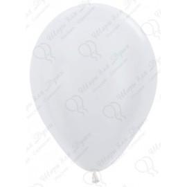 Воздушный шар белый, перламутр для запуска в небо.