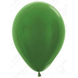 Воздушный шар зеленый, металлик для запуска в небо, 30 см.