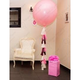 Большой шар розовый. 70 см. с обработкой.