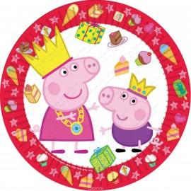 Набор одноразовых тарелок - Пеппа.