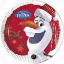 Набор одноразовых тарелок - Олаф Новый год.