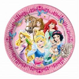 Набор одноразовых тарелок - Принцессы и животные.