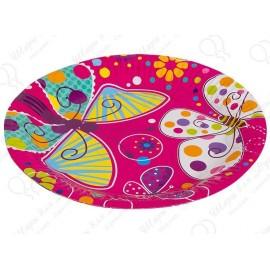 Набор одноразовых тарелок - Бабочки.