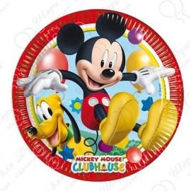 Набор одноразовых тарелок - Микки игривый.