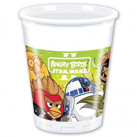 Стаканчики пластиковые Angry Birds, 200 мл, 8 шт.