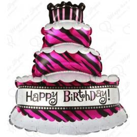 Фигурный шар - Торт со свечками.