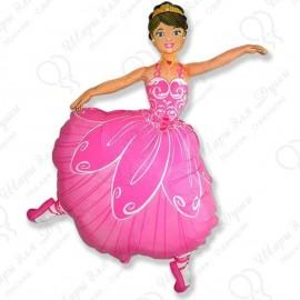 Фигурный шар - Балерина, розовый.