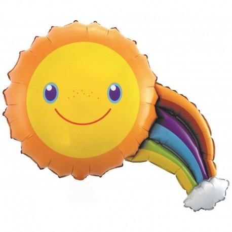 Фигурный шар - Солнечная радуга. 91 см.