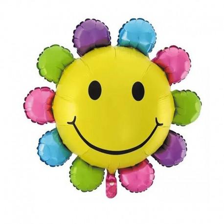 Фигурный шар - Солнышко разноцветное. 81 см.
