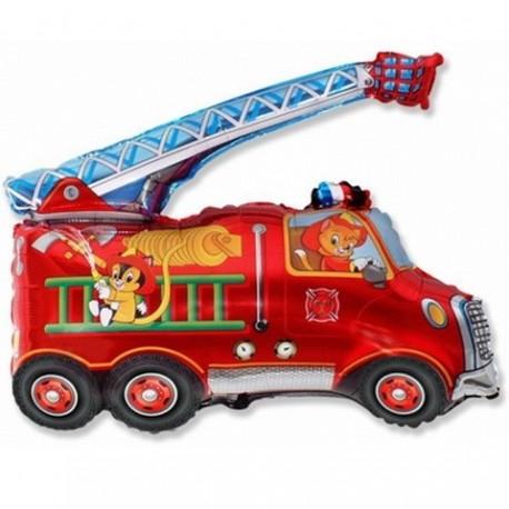 Фигурный шар - Пожарная машина, красный. 81 см.