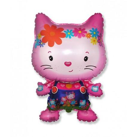 Фигурный шар - Маленький дружелюбный котенок, фуше. 81 см.