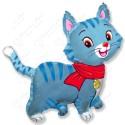 Фигурный шар - Любимый котенок, синий.