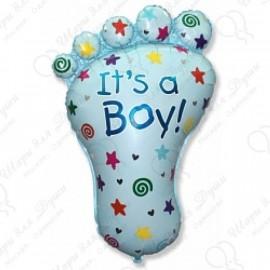 Фигурный шар - ступня мальчика.